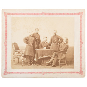 Generals of the Cavalry Corps, Including Sheridan and Custer, Albumen Photograph