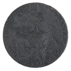 George Washington Inaugural Button, Eagle with Sun