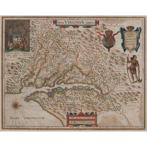 Willem Janszoon Blaeu (Dutch, 1571-1638) Nova Virginiae Tabula