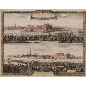 Two 17th-Century Views of Sweden Depicting Military Encampments