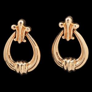 14k Gold Doorknocker Earrings