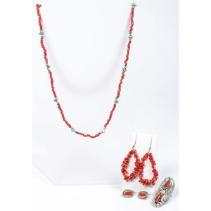 (Cincinnati) Collection of Coral Jewelry