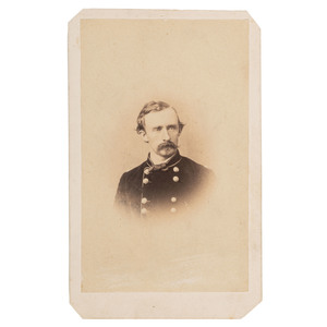 George A. Custer, Rare CDV with William Frank Browne Backmark