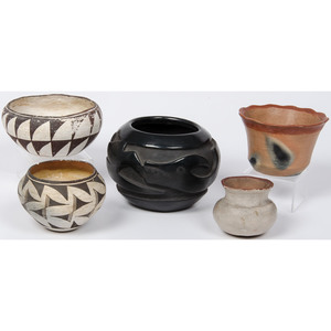 Collection of Pueblo Pottery