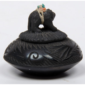 Joseph Lonewolf (Santa Clara, b. 1932) Miniature Pottery Jar