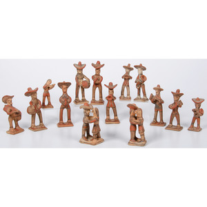 Mexican Pottery: Mariachi Band, Dancers, and Piggy Banks