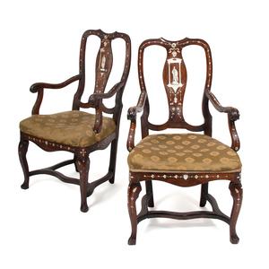 Italian Inlaid Armchairs