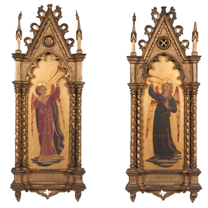 Renaissance Revival Gilt-Framed Paintings