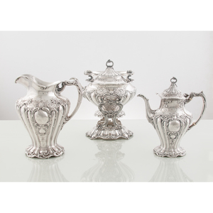 Gorham Sterling Coffee and Tea Service, Grand Chantilly