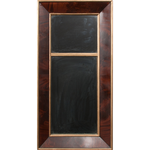 American Flame Grain Mahogany Federal-Style Mirror