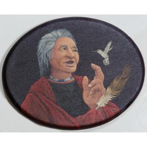 Robert Taylor (American, b. 1951) Acrylic on Oval Canvas
