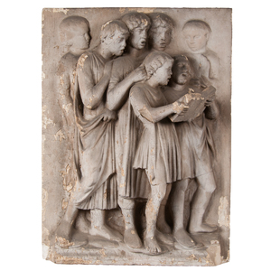 P.P. Caproni Painted Plaster Classical Frieze Panel