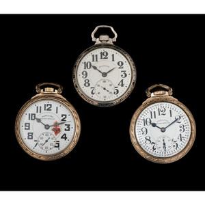 Hamilton Railway Special Pocket Watches PLUS Illinois Bunn Special