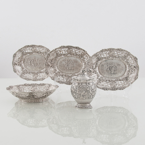 Continental Silver Repousse Dishes