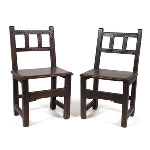 Jacobean Style Oak Chairs