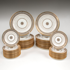 Cauldon Gilt China Plates