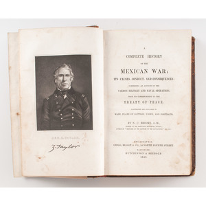 [Americana - Mexican War] A Complete History of the Mexican War by Brooks, 1849 with Maps, Battle Plans, Views, Portraits