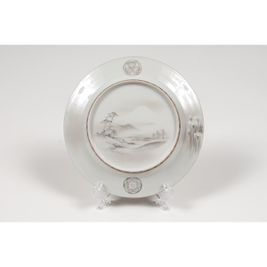 Japanese Scenic and Floral Porcelain