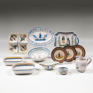 Quimper Pottery Tablewares