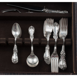 Reed & Barton Sterling Flatware Service, Burgundy