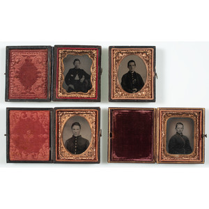 Four Ninth Plate Tintypes of Young Civil War Soldiers