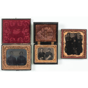Three Civil War Tintypes of Union Pards