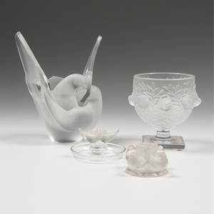 Lalique Bird Bowls and Sculptures