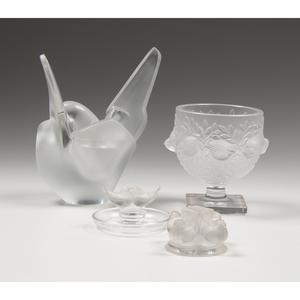 Lalique Bird Bowls and Sculptures