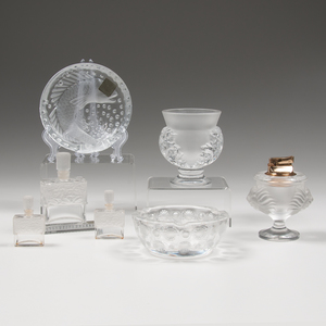 Lalique Vase, Smoking Accessories, and Perfumes