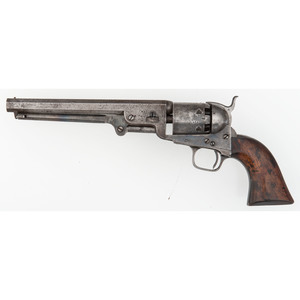 Colt London Navy WD Marked Percussion Revolver