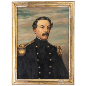 Robert E. Lee as Superintendent, US Military Academy, Oil on Canvas