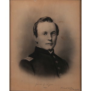 Civil War Missouri Soldier Portraits, Lithograph and Charcoal