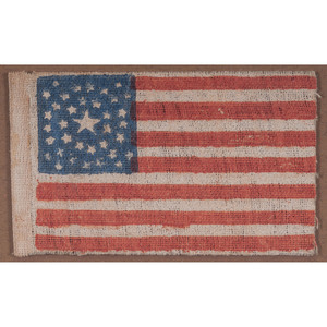 36-Star Printed Parade Flag with Rare Star Pattern