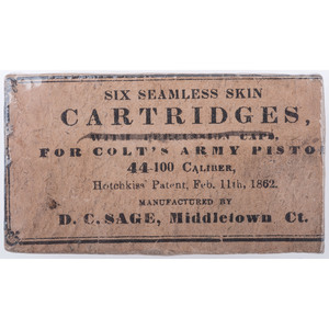 Six Seamless Cartridges For Colts Army Pistol