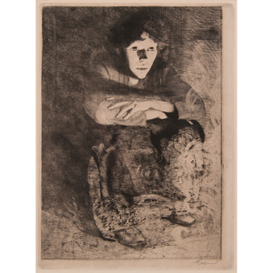 Albert Besnard (French, 1849-1934) Etching