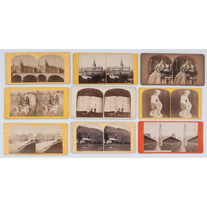 Collection of Miscellaneous Stereoviews, ca 1860-1910s, Lot of 400+