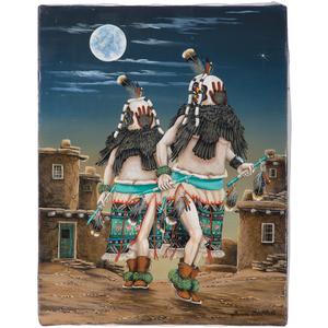 Duane Dishta (Zuni, 1956-2011) Oil on Canvas