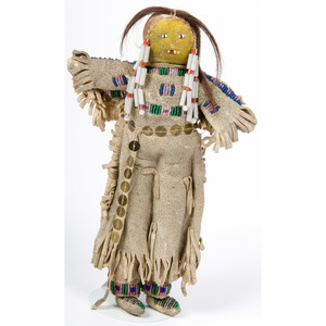 Plains Beaded Hide Doll