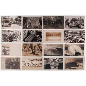 Collection of Real Photo Postcards Featuring Scenes of Recreation, Travel, and Leisure, Including International Landmarks, Lot 64