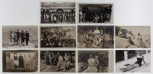 Real Photo Postcards Showcasing Period Styles of Architecture and Fashion, Lot of 40