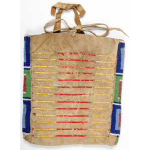 Sioux Beaded and Quilled Hide Bag, Collected by Albert J. Goodbrod, 1844-1914
