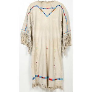 Plains Beaded Hide Dress