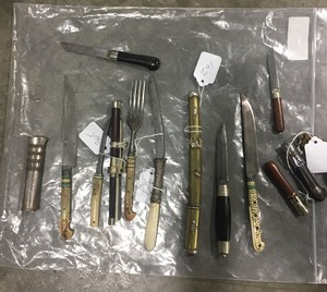 Lot of Utensils and Trousse Sets