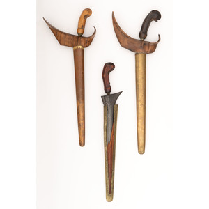 Lot of Three Javanese Keris