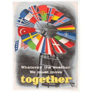 WWII Posters Promoting the Marshall Plan, Plus United Nations Posters