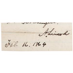 Abraham Lincoln Clipped Signature, Plus