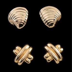 14k Gold Earrings, Lot of Two