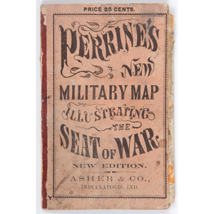 [Americana - Civil War - Map of Southern States] 1862 Folding Map of
