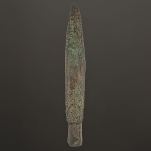A Large Old Copper Culture Spear Point, 11-3/4 in.