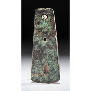 A Hopewell Copper Celt Pendant, 4-7/8 in.